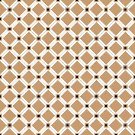 Cross lines vector pattern, background. Seamless repeatable grid, mesh pattern. Template of lattice texture. Vintage black and white tiles vector pattern or background