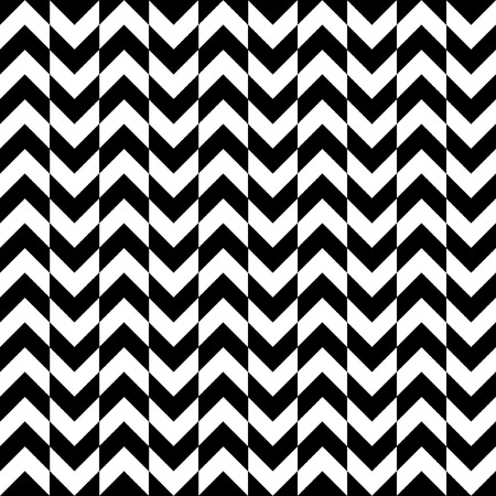 black and white zigzag stripes pattern. Geometric repeating pattern of zigzag.