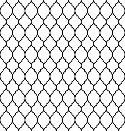 Vintage stylish trellis decorative seamless pattern, geometric background. Luxury design elements for wallpaper, wrapping paper, background, surface texture and fill, card, templates. Vector illustration Ilustração