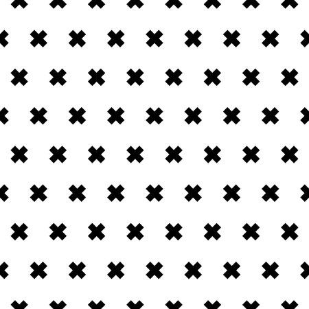 Cross seamless patten background for design, vector illustration.