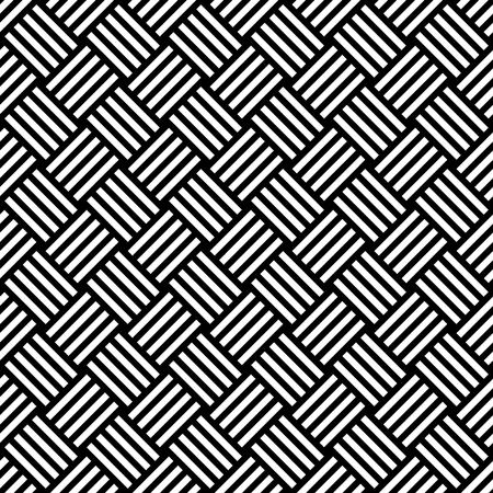 Naadloos patroon met zwarte witte diagonale gestreepte lijnen. Vierkant stijlpatroon. Geometrische creatieve luxe achtergrond. Print kaart, doek, kleding, shirts, sokken, shorts, kleding, deken wrap wrapper zomer winter lente herfst ontwerp