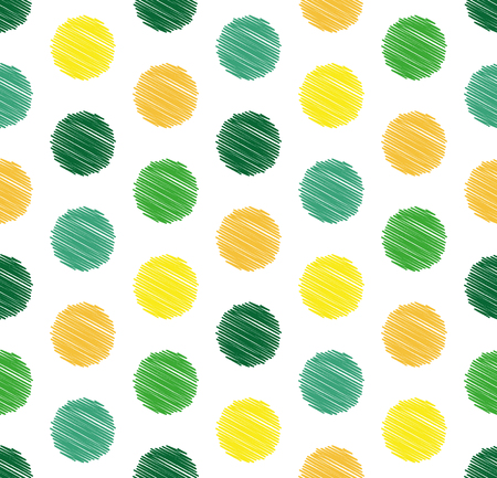 Dots circle geometric seamless pattern, summer and spring color background. Creative luxury candy style. Print for design cloth, clothing, tie, shirt, wrap, wrapper web cover website