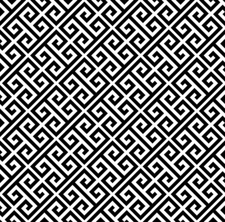 Typical egyptian, assyrian and greek motives. Greek key. Arabic geometric texture. Islamic Art. Abstract geometric. Vector and illustration. Vector Illustration