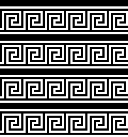 Typical egyptian, assyrian and greek motives. Greek key. Arabic geometric texture. Islamic Art. Abstract geometric. Vector and illustration.