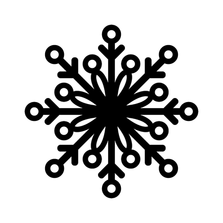 Snowflake icon or logo. Christmas and winter theme symbol. Vector and illustration. 일러스트
