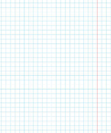 Standart notebook sheet vertical cage 7 mm millimeter pattern of school notebook paper grid. Page template. Background sheet in squares. Grid size 5mm. Texture for checkered notebook. Vector