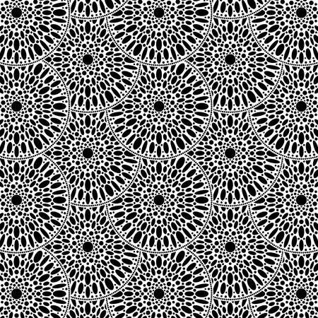 Motif de fleurs de flocons de neige, entrelacs de texture répétitive moderne de fleur ronde