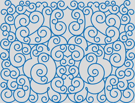Scrolls forming abstract floral ornament. Illustration