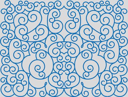 Scrolls forming abstract floral ornament. Ilustração