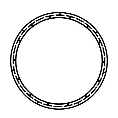 Greek key round frame. Typical egyptian, assyrian and greek motives circle border. 矢量图像
