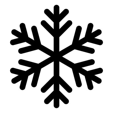 Icono o logotipo de copo de nieve. Símbolo de tema de Navidad e invierno.