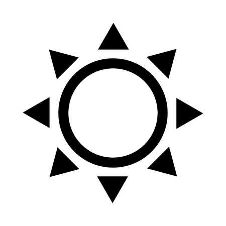 Sun icon isolated on white Stock Vector - 119495789