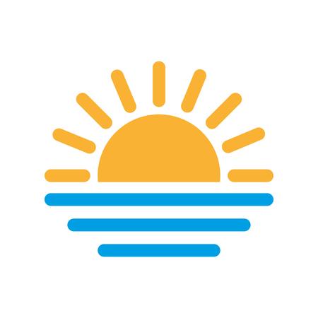 Sun icon isolated on white