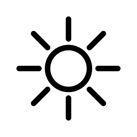 Sun icon isolated on white Stock Vector - 119495522