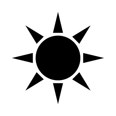 Sun icon isolated on white Illustration
