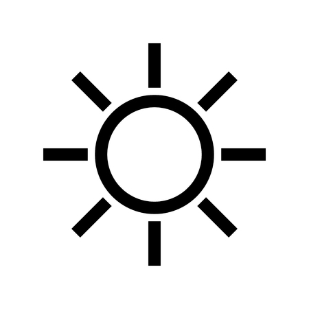 Sun icon isolated on white Illustration