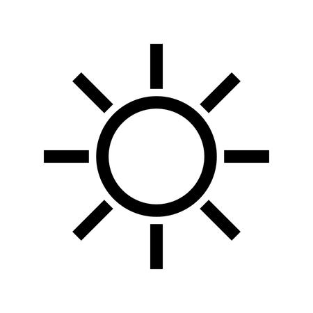 Sun icon isolated on white Stock Vector - 119495528