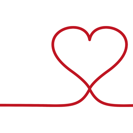 Heart live frame icon vector. Love symbol. Valentine s Day sign, emblem isolated on white background style for card. Illusztráció