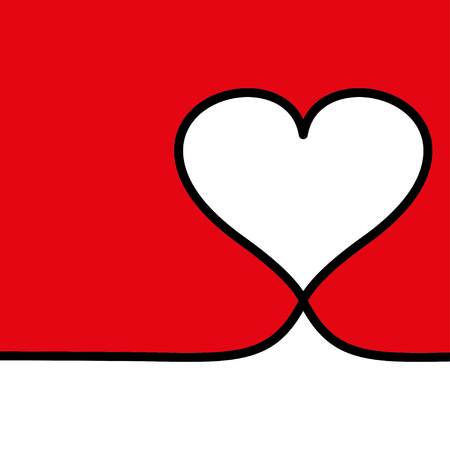 Heart live frame icon vector. Love symbol. Valentine s Day sign, emblem style for card.