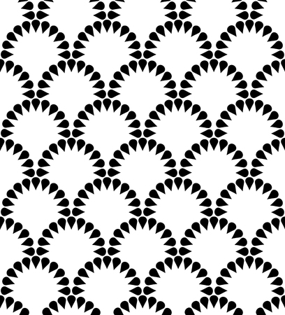 Japanese floral vector seamless pattern. Abstract round elements repiating texture design. Иллюстрация