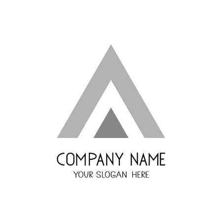Triangle Emblem or symbol for business company.