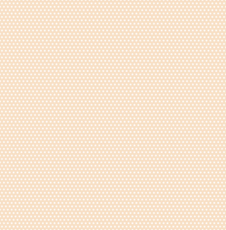Small polka dots seamless pattern on soft beige background. Polka dot fabric. Retro vector background or pattern. Casual stylish soft polka dot texture on beige background. Vector and illustration.