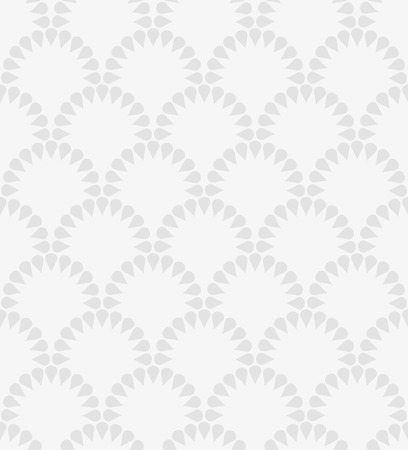 Japanese gray floral vector seamless pattern. Abstract round elements repiating texture design. Illustration