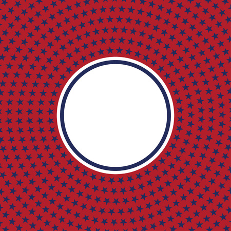 USA star vector pattern round frame. American patriotic circle border with stars and stripes pattern. Abstract geometric. Vector and illustration. 일러스트