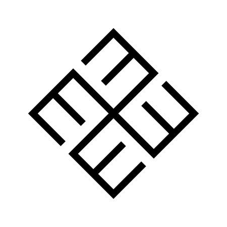 Croix baltique ethnique du symbole ornemental de bonheur.