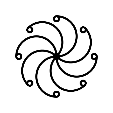 Ethnic baltic cross of happiness ornamental symbol. Vector Illustration