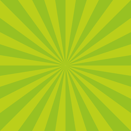 Sunburst background vector pattern with green grass color palette of swirled radial striped design.