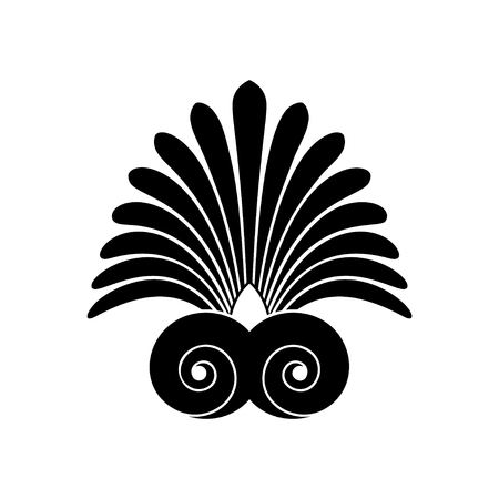 Ancient swirl old greek flat ornament, vector and illustration symbol Vettoriali