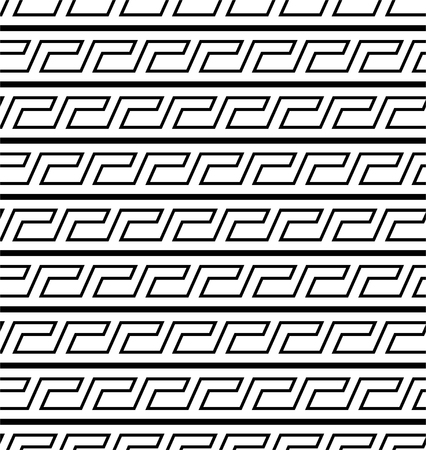 Typical egyptian, assyrian and greek motives. Greek key. Arabic geometric seamless texture. Islamic Art. Abstract geometric. Vector and illustration.