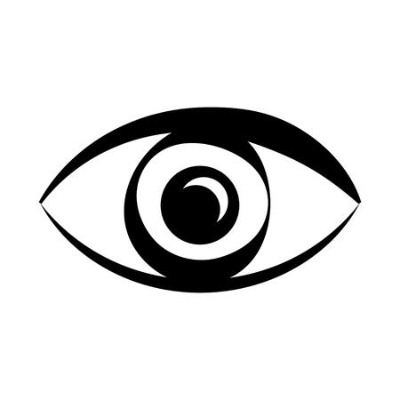 Icono de ojo Ilustración de vector