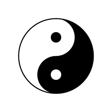 Ying and Yang symbol of harmony and balance.