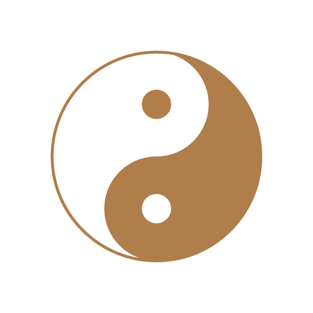 Golden Ying and Yang symbol of harmony and balance.
