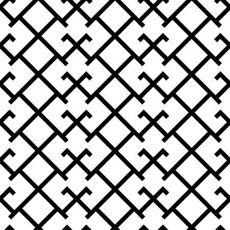 Ethnic baltic happiness cross ornamental Martina symbol seamless pattern. Vector Illustration