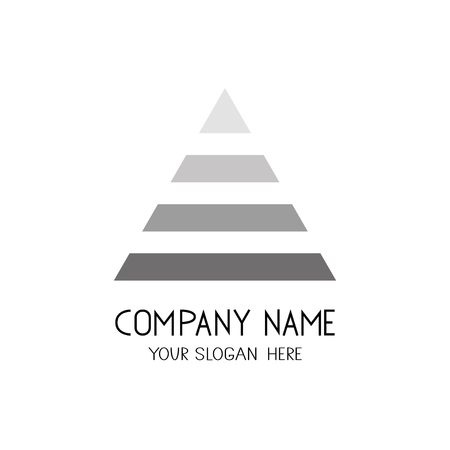 Triangle logo. Emblem or symbol for business company.