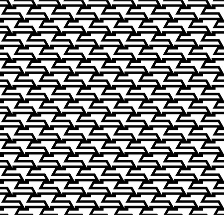 Seamless black and white abstract curves linear stripes shapes pattern.