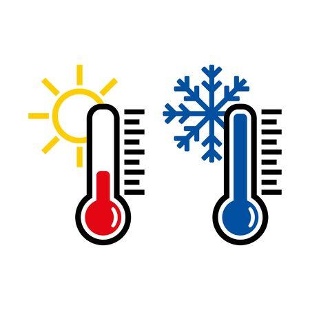 Thermometer icon or temperature symbol or emblem Vetores
