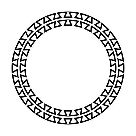 Greek key round frame Illusztráció