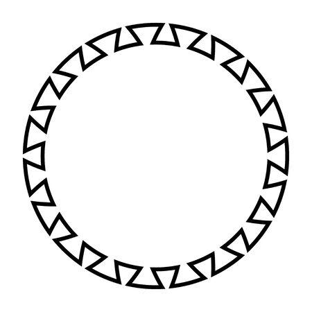 Greek key round frame. Greek border. Vector Imagens - 128617725