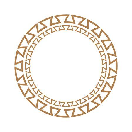 Greek key round frame. Greek border. Vector Illusztráció