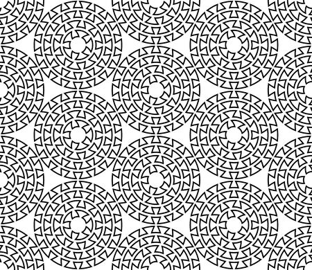 Greek key round seamless pattern.