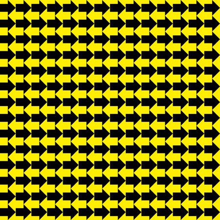 Seamless vector black yellow arrows pattern texture