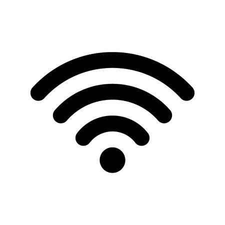 Vecteur d'icône Wifi. Signe Internet sans fil WIFI.