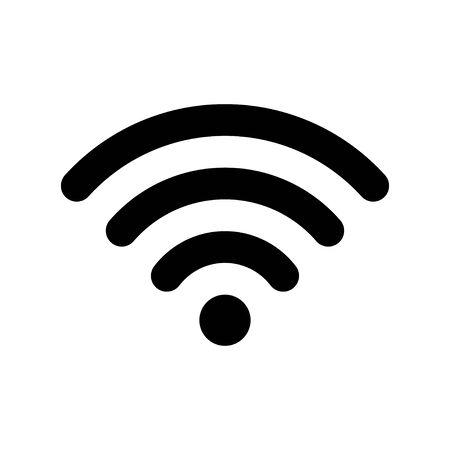 Vettore dell'icona Wi-Fi. Segno di WIFI internet senza fili.