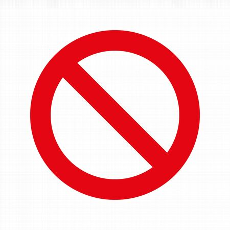 Prohibition sign. No Sign on Workspace background