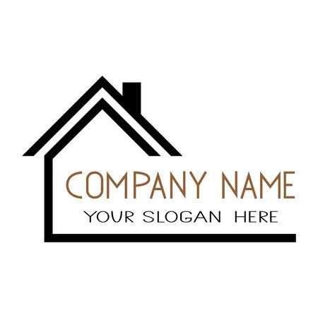 Icona della casa Simbolo del logo piatto semplice di vettore