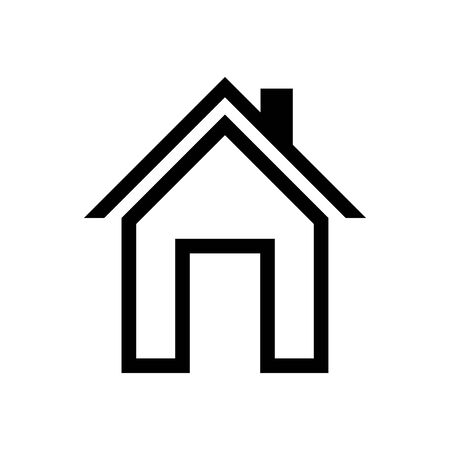 House icon vector simple flat symbol. Solid linear house logo Illustration